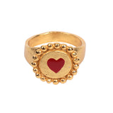 Amour Bronze Gold Ring - Ethereal Shop