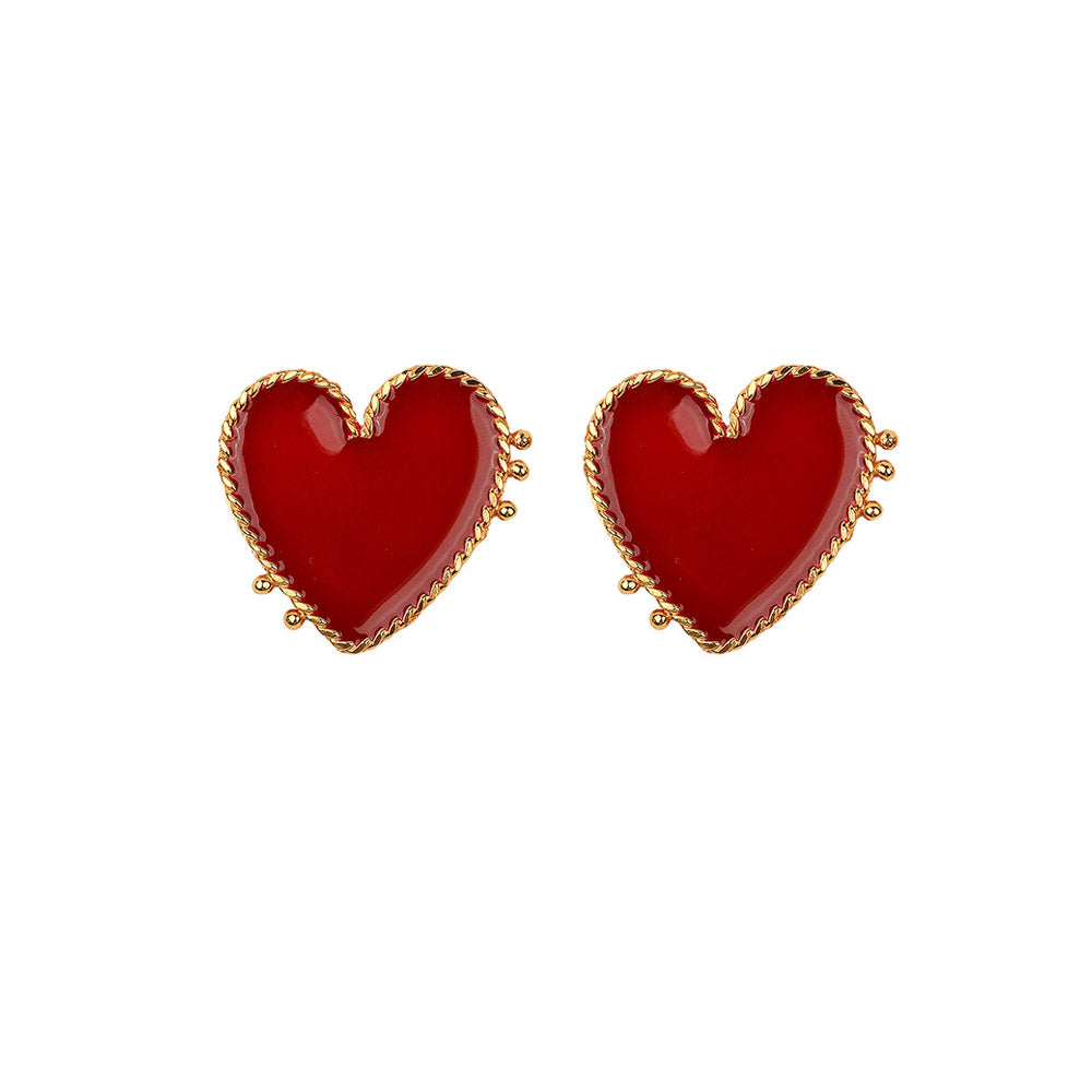 I Heart you Gold Earrings - Ethereal Shop