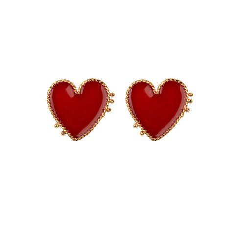 I Heart you Gold Earrings