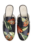 Black Tropical Mules - Ethereal Shop