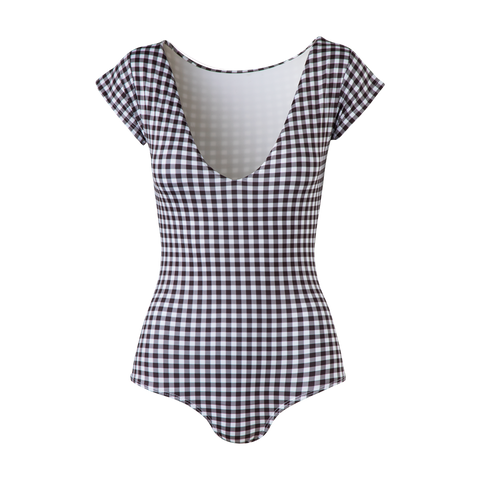 Capri One Piece Black Gingham