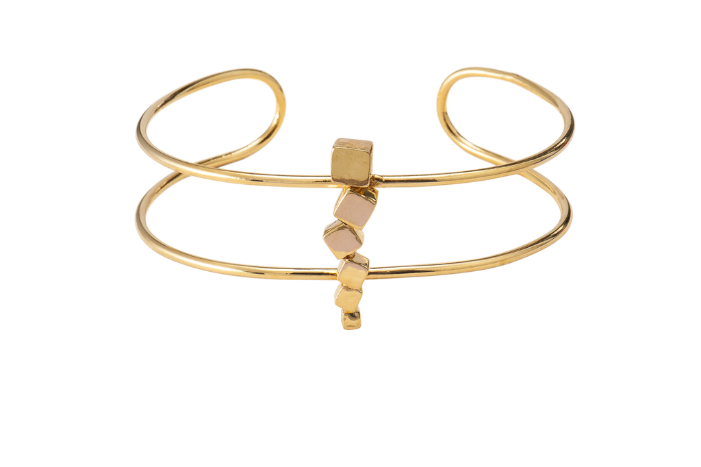 Gold Multisquare Choker - Ethereal Shop