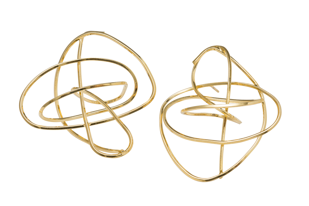 Gold Tangle Earrings - Ethereal Shop