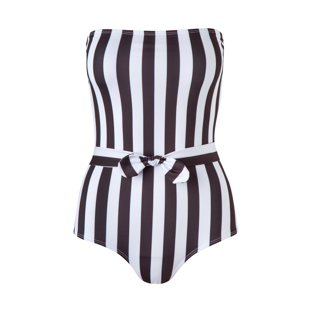 Porto One Piece Black Stripes - Ethereal Shop