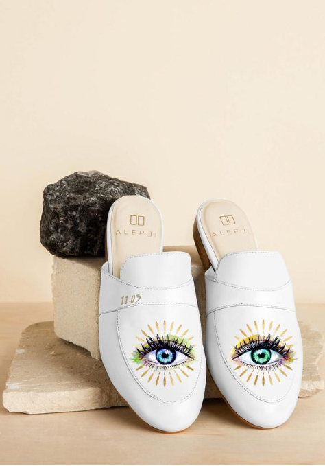 Third Eye White Mules