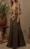 Military Green Imperio Maxi Skirt