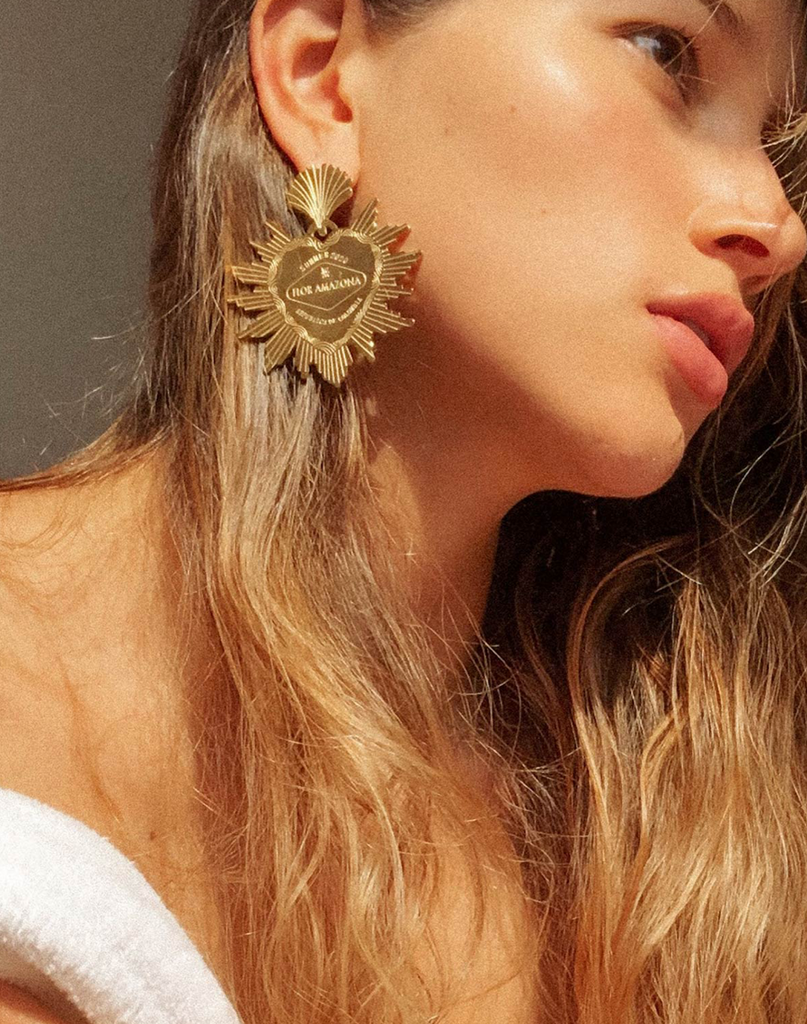 Maxi Heart Earrings