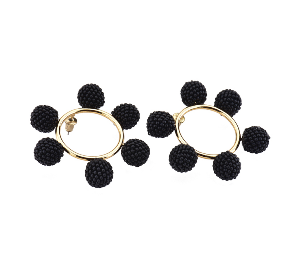 Daniela Salcedo x Mishky - Solei Earrings - Black/Gold - Ethereal Shop