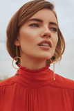 Daniela Salcedo x Mishky - Comet Earrings - Black/Gold - Ethereal Shop