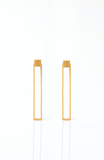 Brass Goldplated Midi Rectangle Earrings - Ethereal Shop