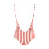 Tulum One Piece Red Stripes - Ethereal Shop