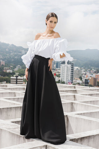 Off Shoulder Ruffles Blouse
