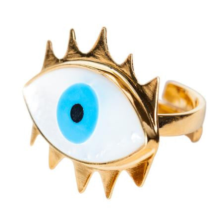 Gold Eye Ring