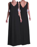 Maxi Tassel Dress Black