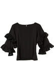 Two Ruffles Bell Sleeves Top