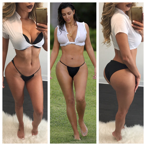 K. Kardashian White and Black Bikini - Diva Boutique Online