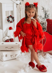 Little Miss Claus Pajamas Set