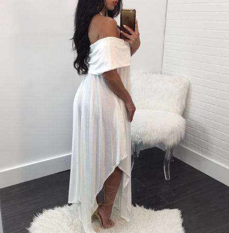 Mila Off The Shoulder Boho Maxi
