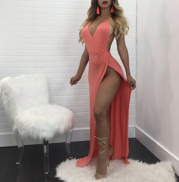 Sarah High Side Slit Maxi