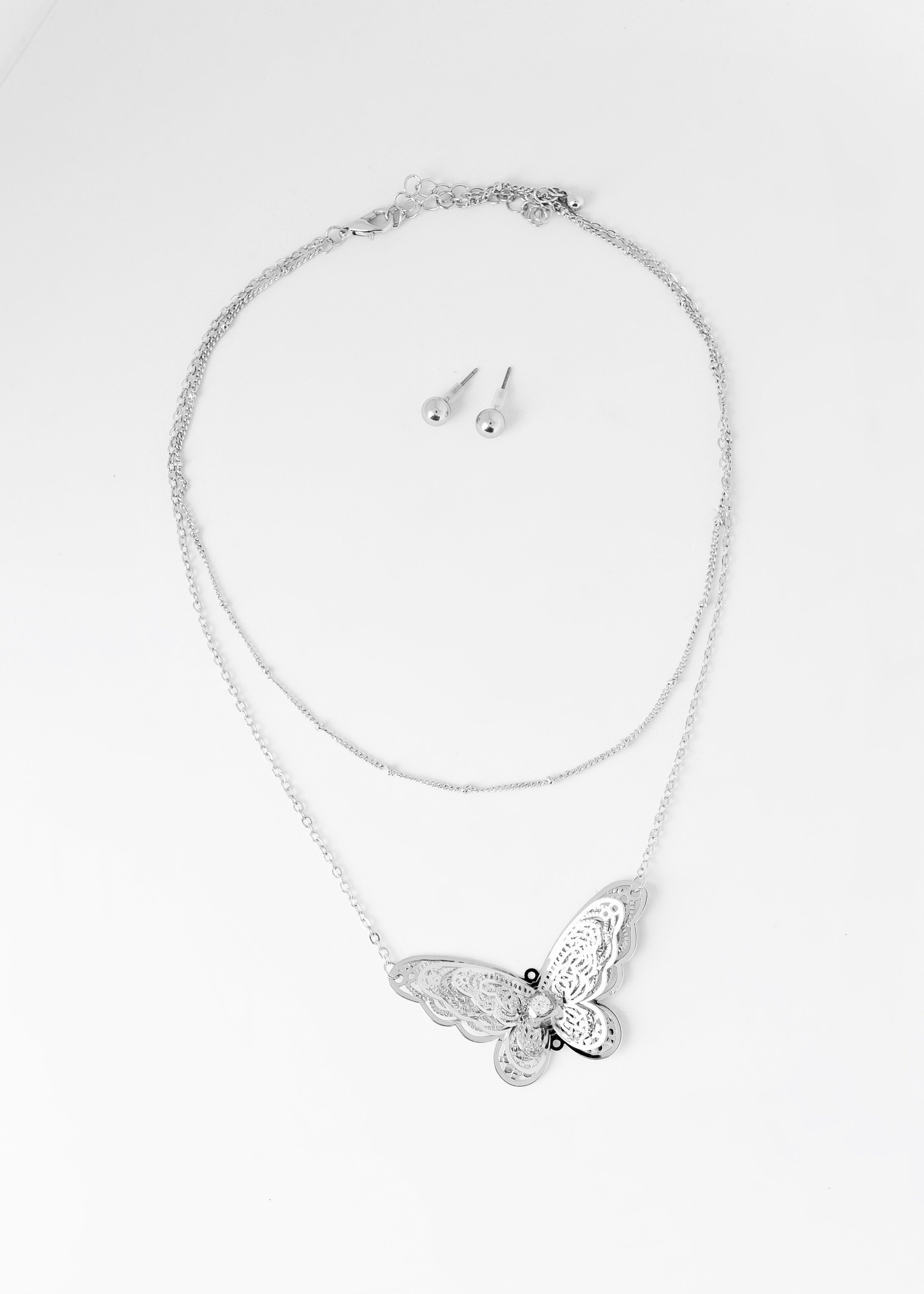 Flying High Butterfly Necklace