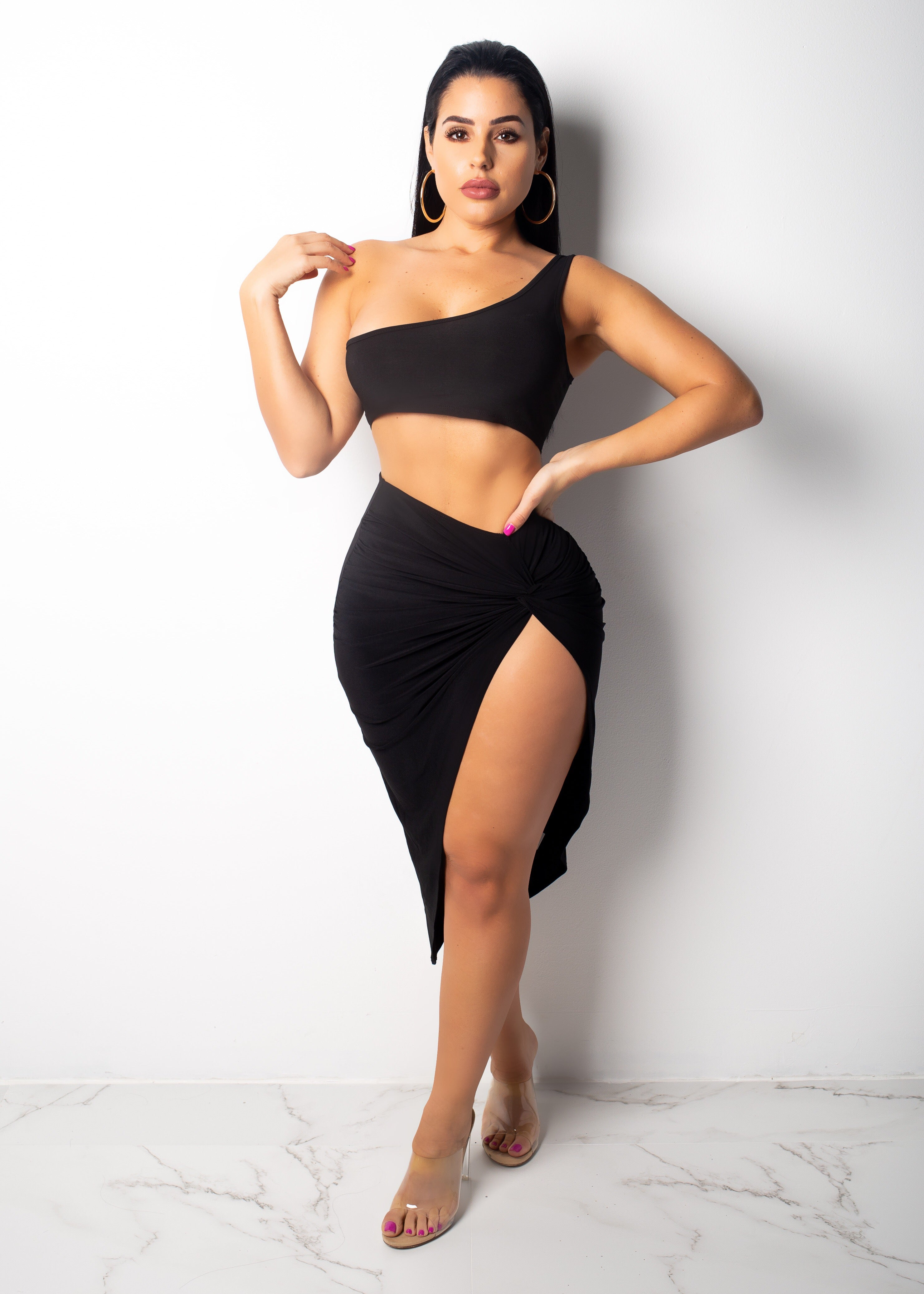 Kim In Miami Black Skirt Set