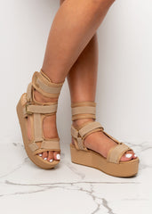 Take a Step Back Nude Sandals