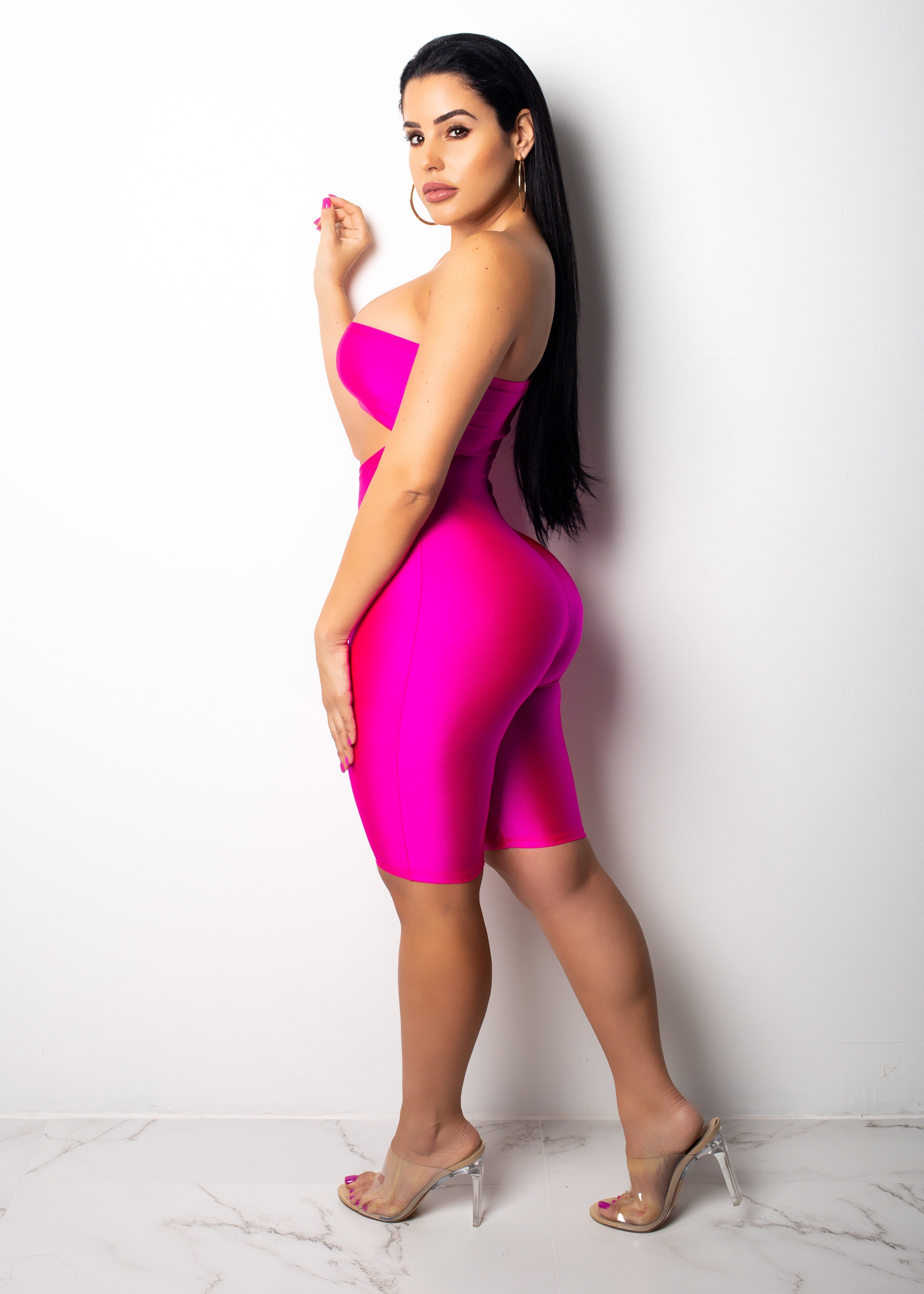 Its Electric Pink & Neon Yellow Romper