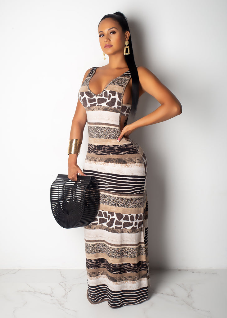 Safari Girl Maxi Dress