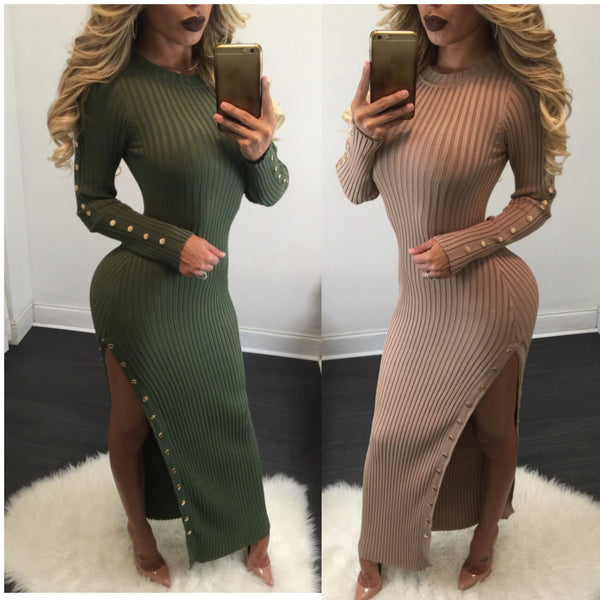 Jeannie Long Sleeve Sweater Maxi - Diva Boutique Online - 3