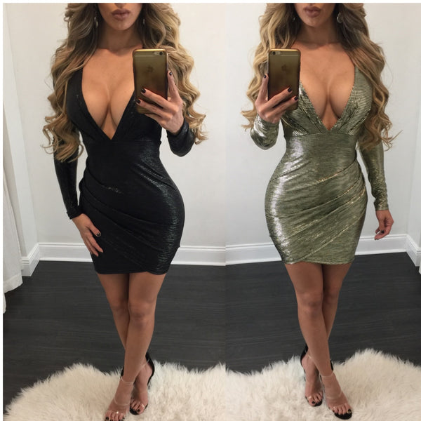 Sasha Metallic Mini Dress - Diva Boutique Online - 1
