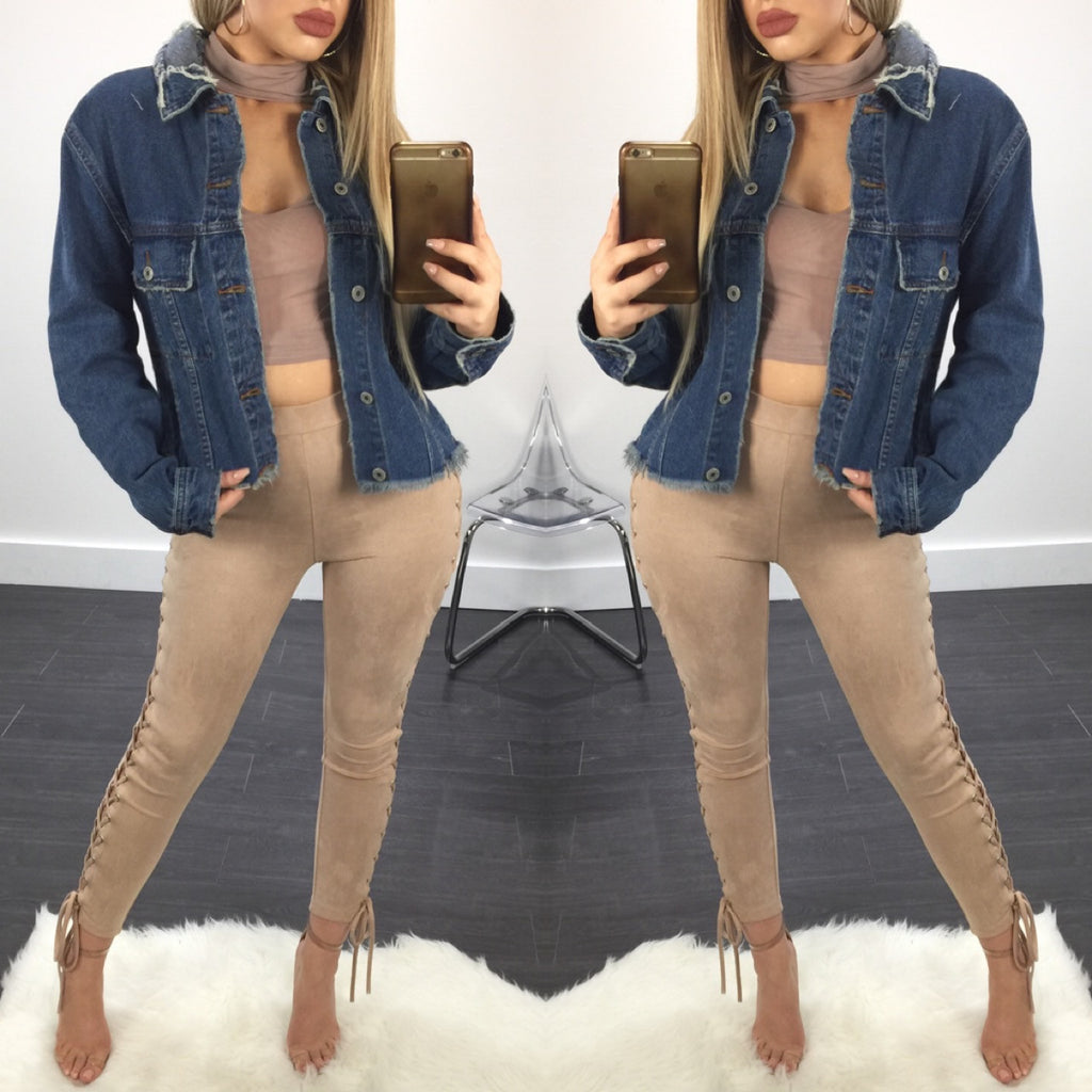 Lori Distressed Denim Jacket - Diva Boutique Online