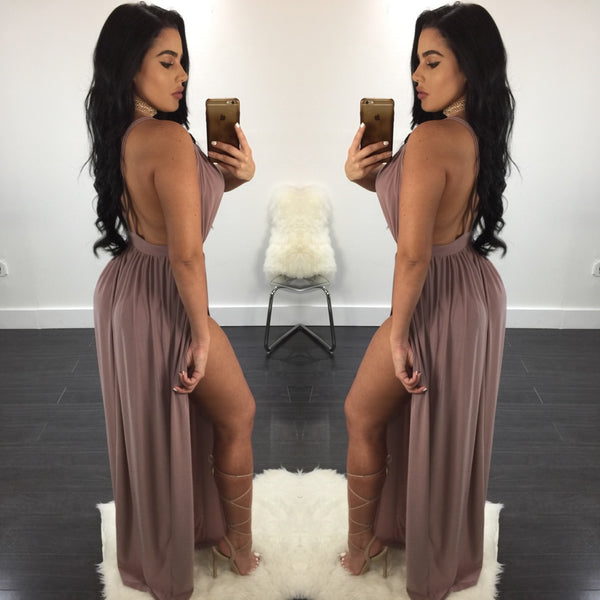 Gina Double Slit Maxi