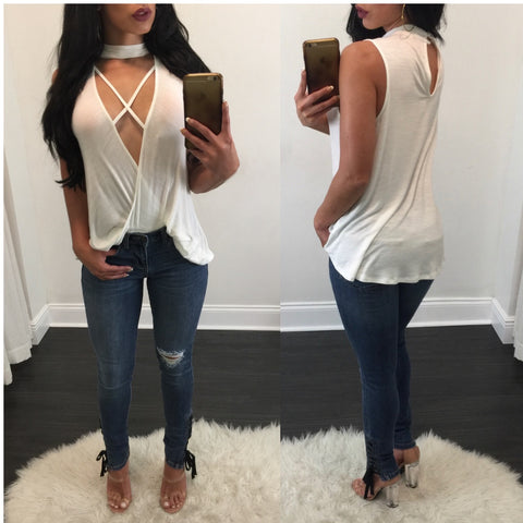 Sharon Lace Up Detail Jeans - Diva Boutique Online