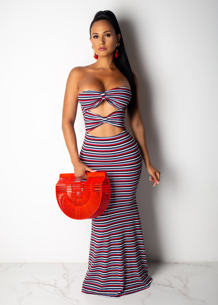 Dress Kinda Girl Striped Maxi Dress
