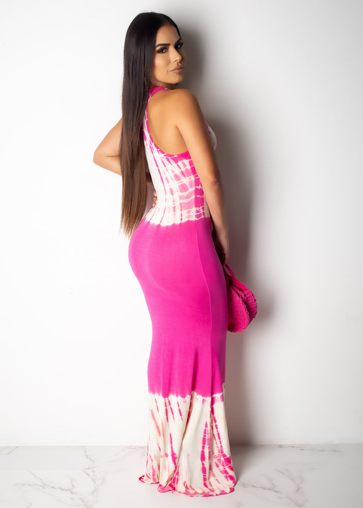 Crazy For You Tie Dye Maxi Dress