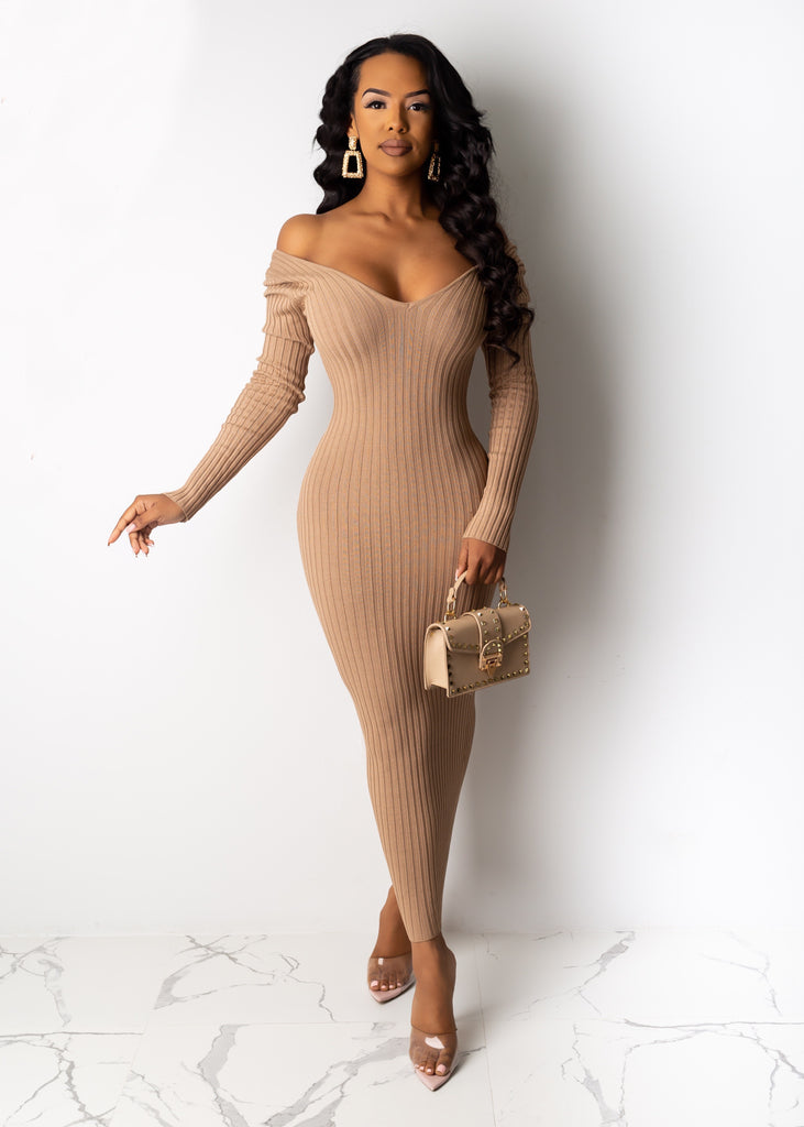 Aileen Ribbed Midi Dress