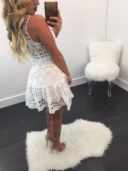 Holly Crochet Sleeveless Mini