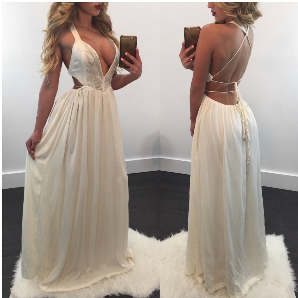 Julie Open Back Maxi