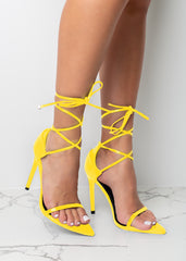Fly Like Me Yellow Heels