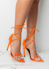 Fly Like Me Orange Heels