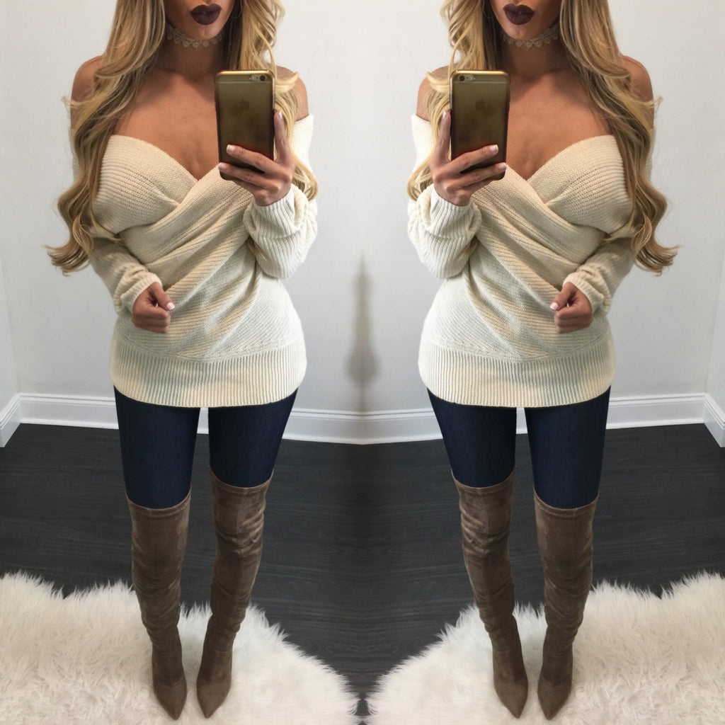 Karina Off Shoulder Sweater