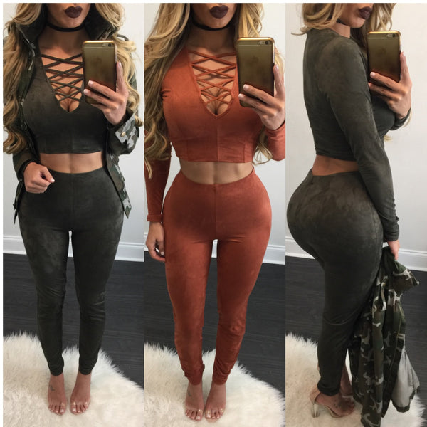 June Lace Up Pant Set