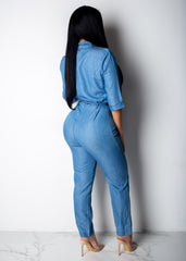Living Life Jean Jumpsuit