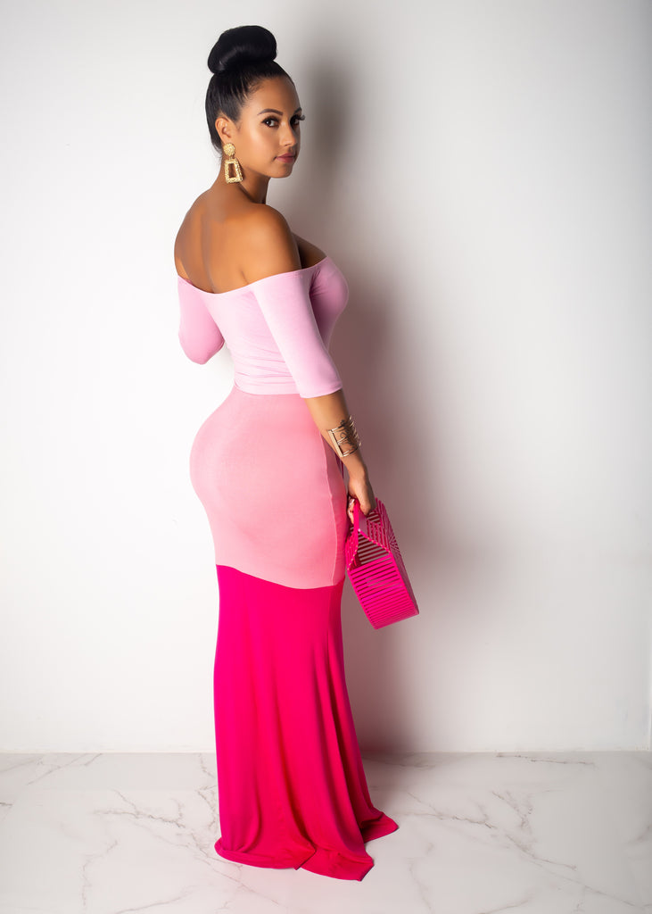 Letting Go Pink Maxi Dress