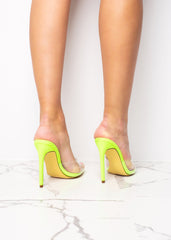 Steppin' Out Neon Yellow Pointed Heels