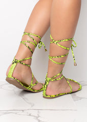 Wrapped Up On You Lime Sandals