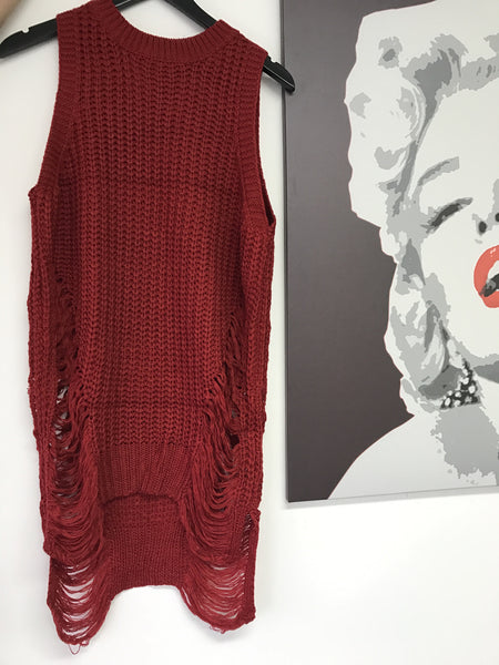 Denise Sleeveless Knit Sweater / Dress - Diva Boutique Online - 2