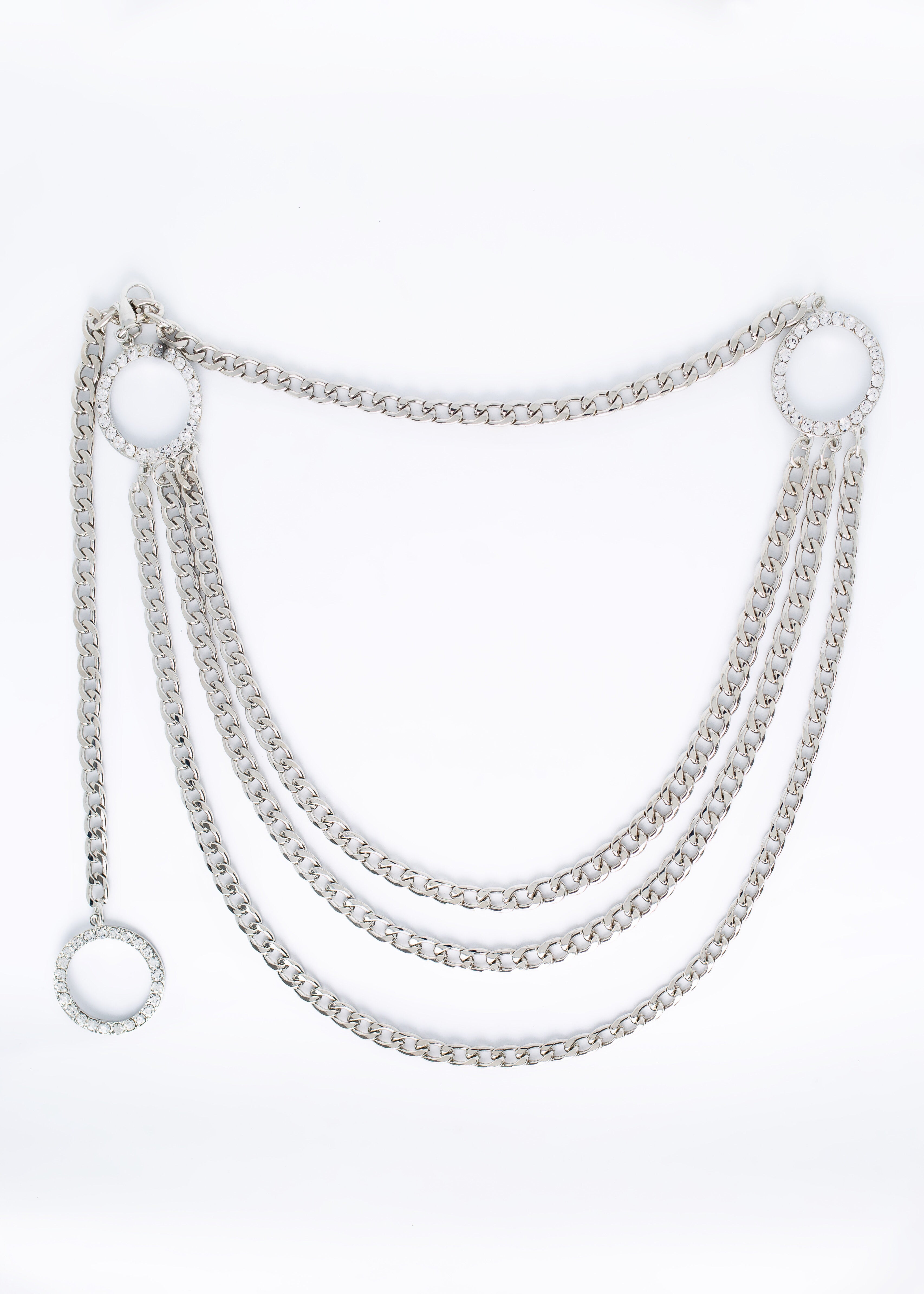 Circle Of Diamonds Chain Belt