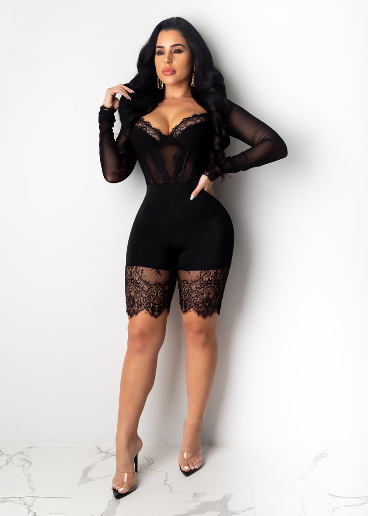 My Next Move Long Sleeve Romper