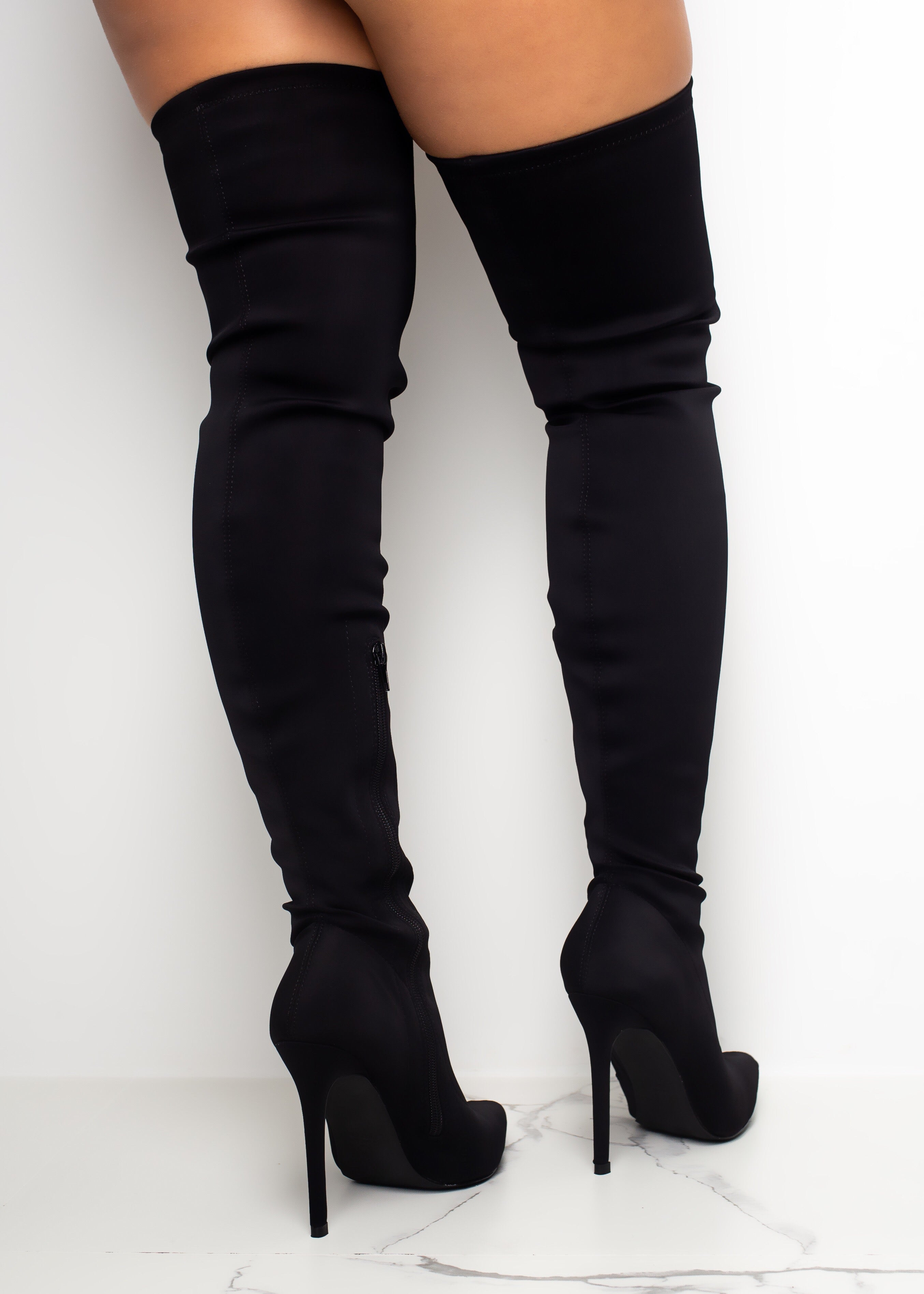 Over The Top Black Boots